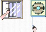 換気扇を回したり、窓を開けて十分に換気をして下さい。